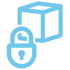 icon for a box with lock